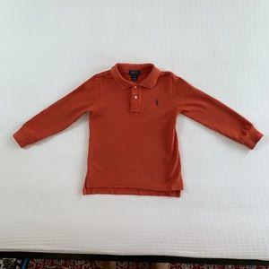 Polo Ralph Lauren Burnt Orange Long-Sleeve Polo 3T